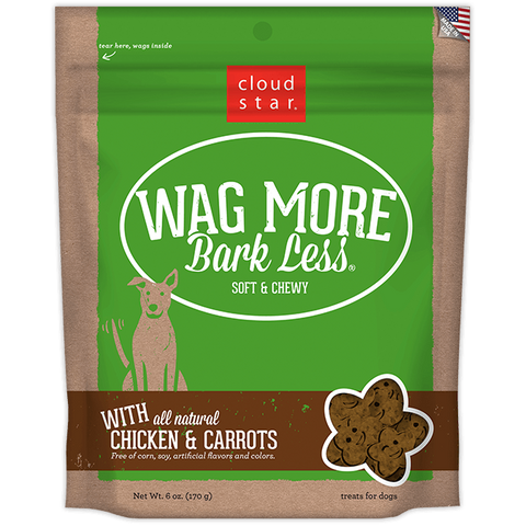 Wag More Bark Less Soft & Chewy Treats: Chicken & Carrots