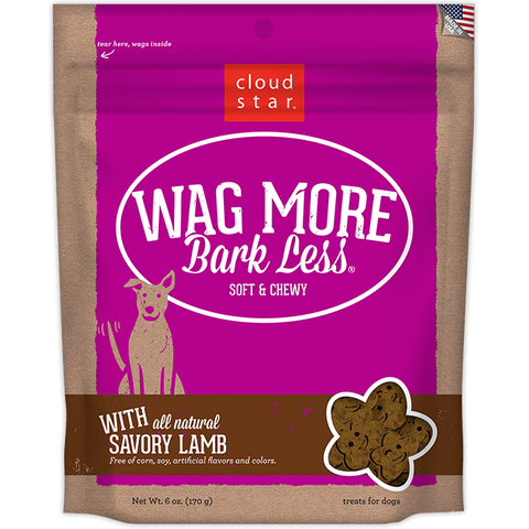 Wag More Bark Less Soft & Chewy Treats: Savory Lamb