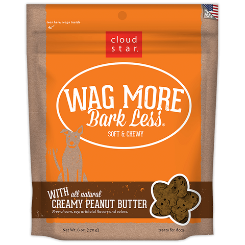 Wag More Bark Less Soft & Chewy Treats: Creamy Peanut Butter