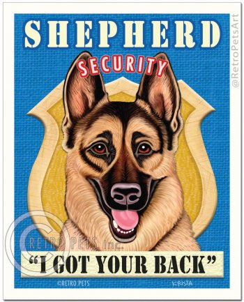German Shepherd: Shepherd Security Refrigerator Magnet