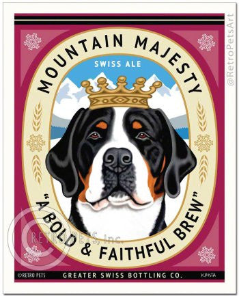 Bernese: Mountain Majesty Ale Refrigerator Magnet