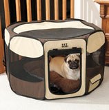 Foldable Pet Playpen with Removable Top (4 Colors Available)
