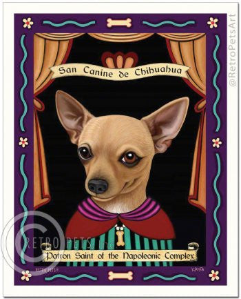 Chihuahua: Saint Napoleon Refrigerator Magnet