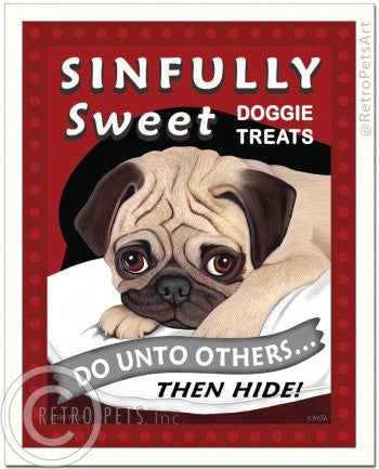 Pug (Fawn): Sinfully Sweet Refrigerator Magnet