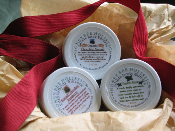 Organic Edible Body Butter Gift Set