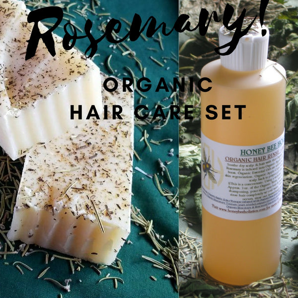 LIMITED EDITION Organic Rosemary Hair Care Set