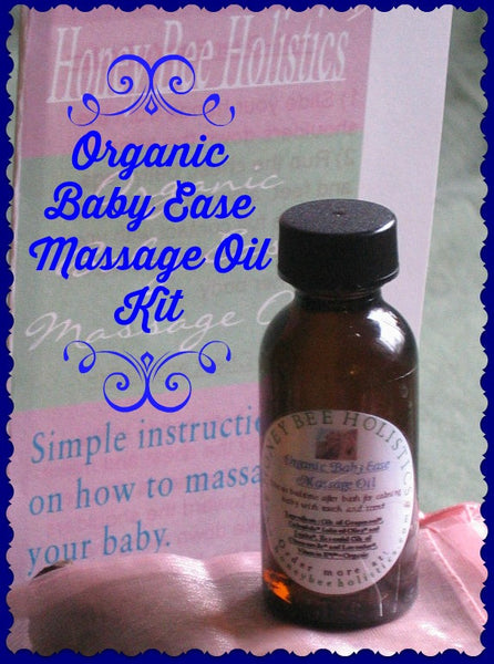 "Organic Baby Ease Massage Oil ~ Plus FREE Easy Massage ""How to"" Instruction Pamphlet"