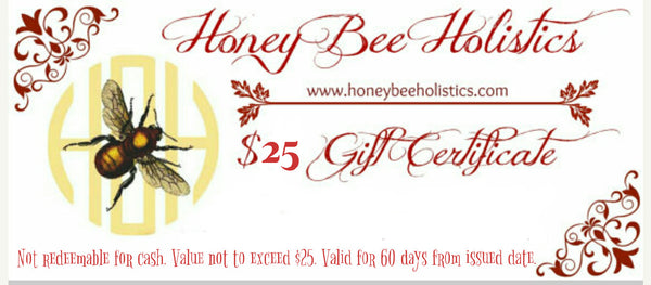Honey Bee Holistics Gift Certificate / PDF Email
