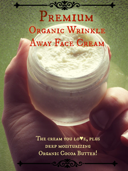 PREMIUM Organic Wrinkle Away Face Cream