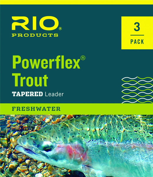 Rio Powerflex Trout Leader - 3 Pack 9ft