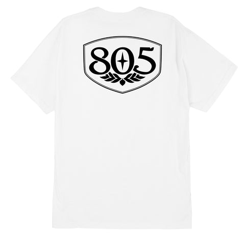 805 Badge White Tee