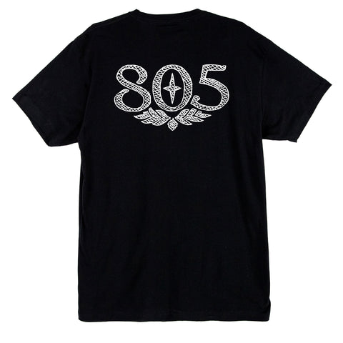 805 Grid Sketch Logo Tee