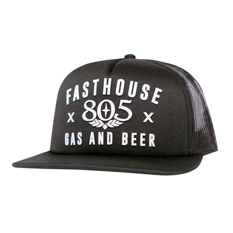 805 X Fasthouse Black Trucker Hat