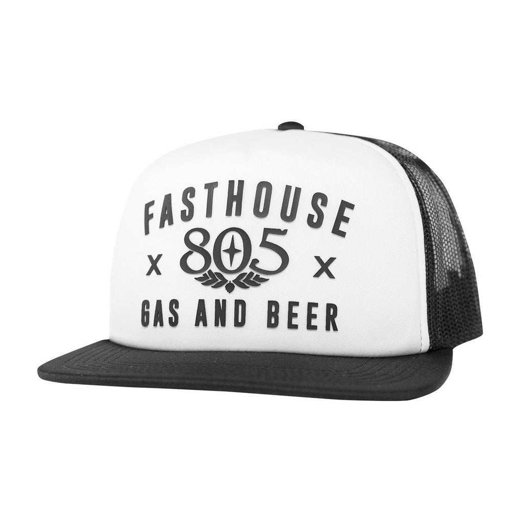 805 X Fasthouse White Trucker Hat