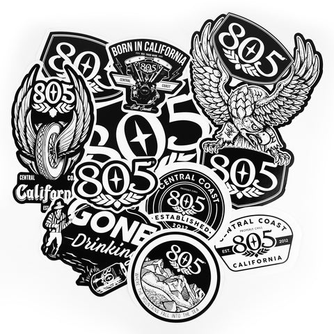 805 Sticker Pack