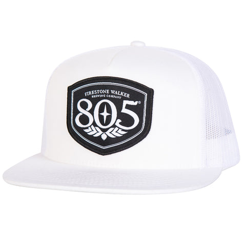 805 Patch White Trucker