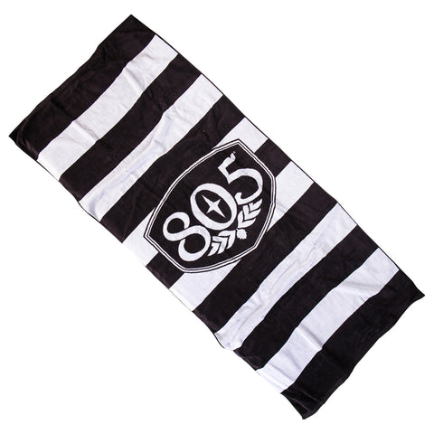 805 Striped Badge Beach Towel