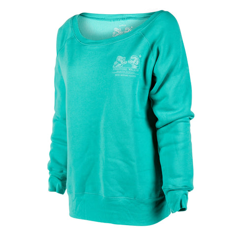 Firestone Walker Ladies Brand Teal Pullover