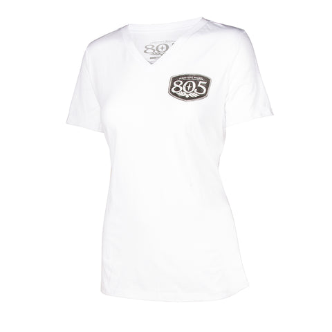 805 Ladies Stamped Out V-Neck