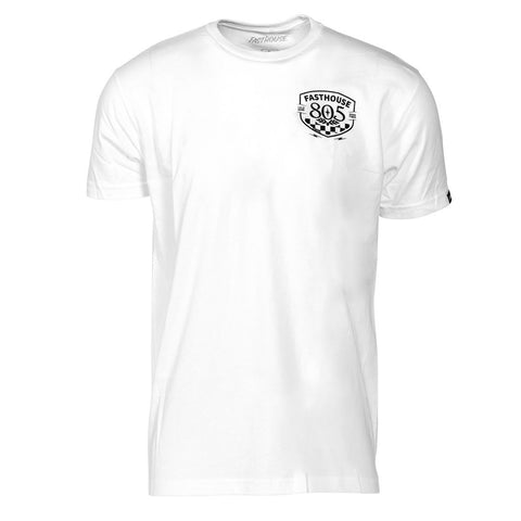 805 X Fasthouse Pitstop White Tee