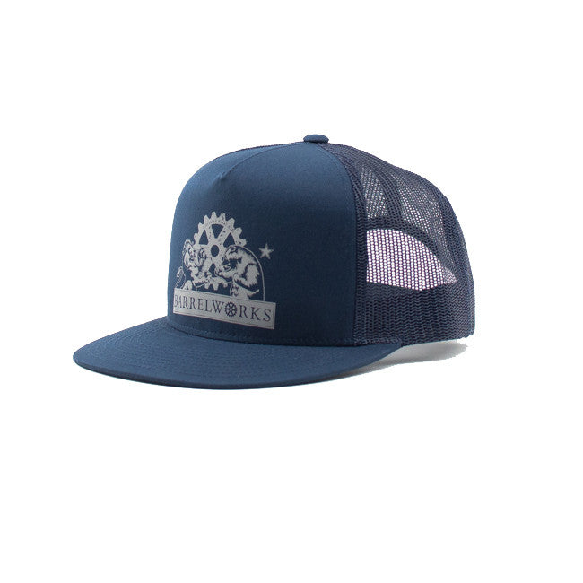 Barrelworks Snapback Navy Hat