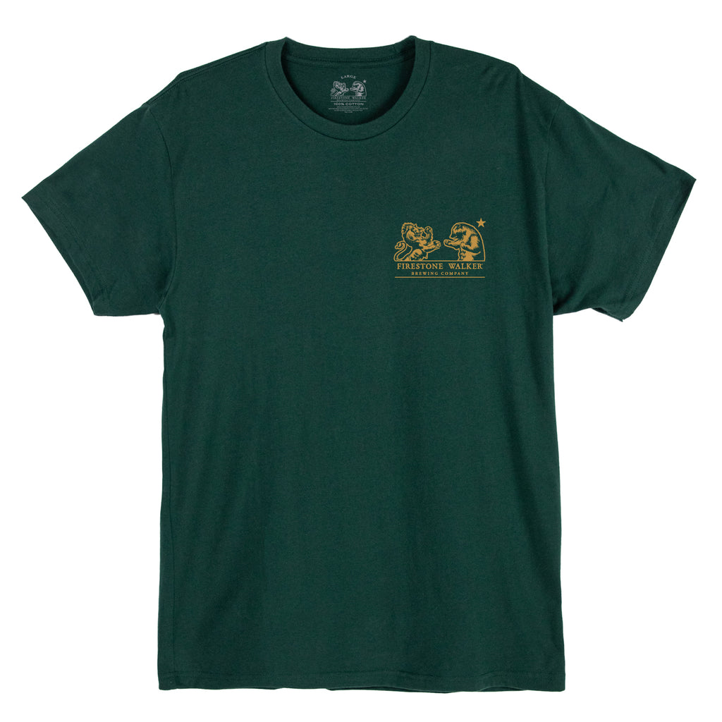 Firestone Walker Logo Forest Green Tee