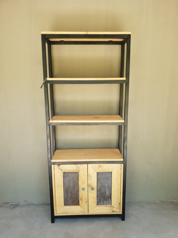 Industrial Steel Frame Cupboard Shelf