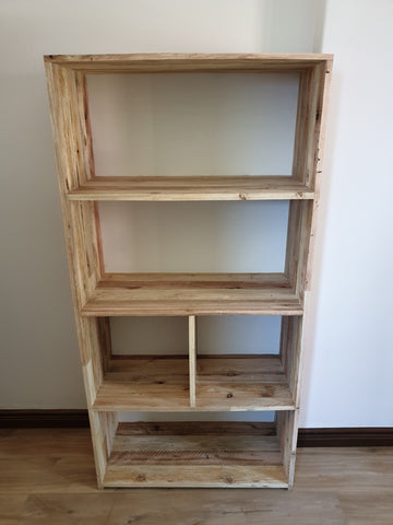Reclaimed Block Shelf w/backing
