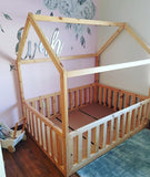 House Bed Frame w/Removable Rails(only long sides)