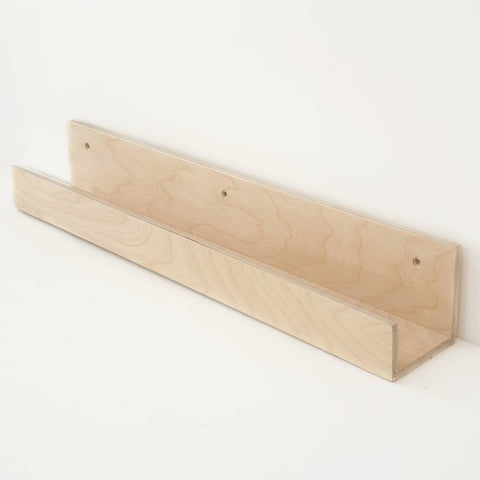 Birch Ply Wood Ledge Shelf