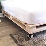 Crafted Pallet Wheel Bed
