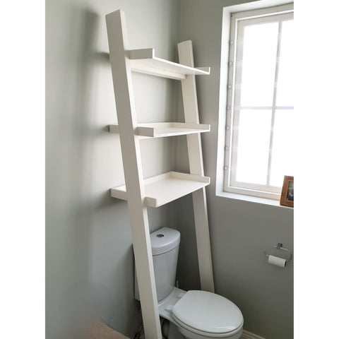 Toilet Leaning Ladder Shelf