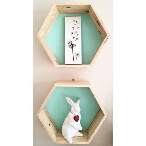 Hexagon Shelf - Solid Pine