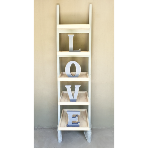 Leaning Shelf including LOVE