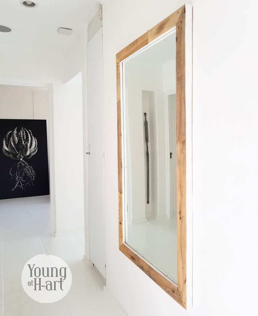 White Sided Rustic Mirror