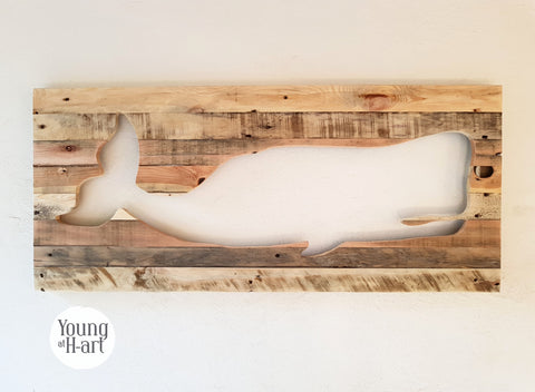 Whale Inverted Wall Decor (1 in Stock)