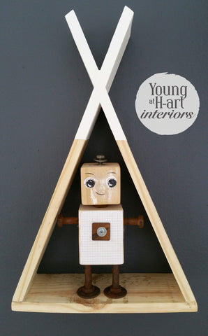 Rustic Tee Pee Shelves
