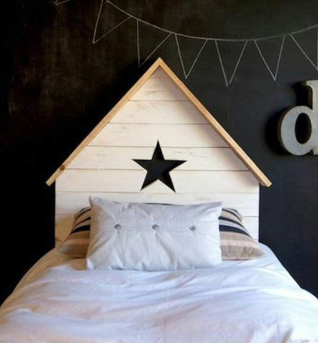House Cutout Headboard (Star/Heart)