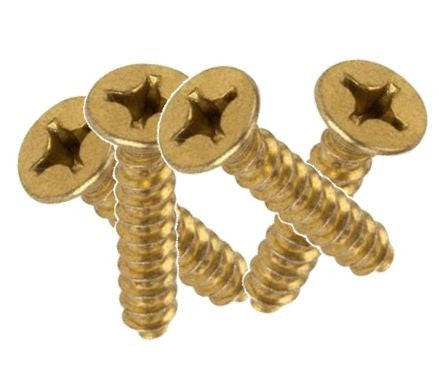 Medium Brass Wood  Screws (100 count) #8x1.25""