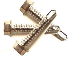 "Brass Plated  3/4"" Tek Screws (100 count)"