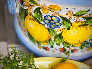 ceramiche borgioli lemons on white