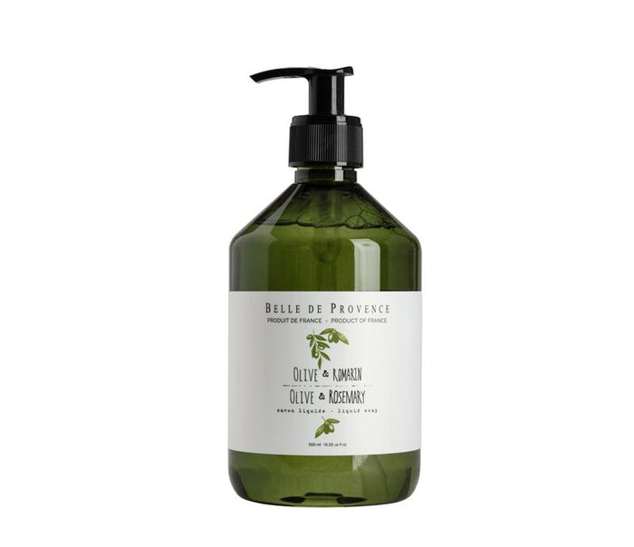 Belle de Provence Olive & Rosemary Liquid Soap