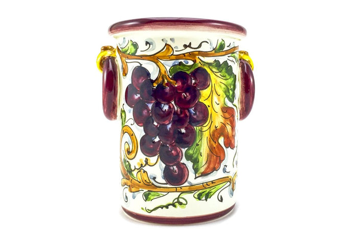 Borgioli Grapes Bottle or Utensil Holder