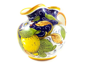 Borgioli - Lemons on Blue - Round Pitcher