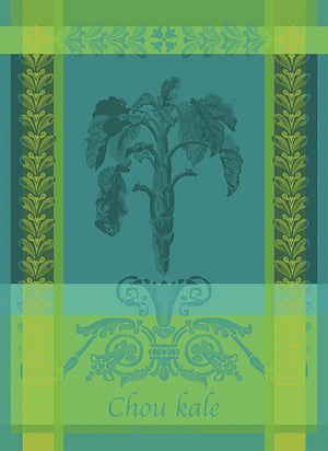 "Garnier Thiebaut ""Chou Kale - Bleu"" Kitchen Towel"