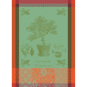 "Garnier Thiebaut ""Cacaoyer en Pot - Vert"" Kitchen Towel"