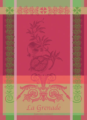 "Garnier Thiebaut ""Grenade - Rose"" Kitchen Towel"