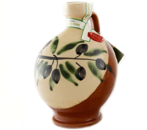 Galantino Organic Extra Virgin Olive Oil - Handpainted Ceramic Bottle