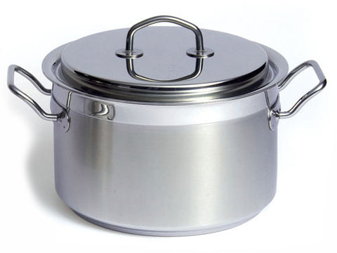 Silga Teknika World's Best Stainless Steel Cookware High Saucepan or Casserole with a lid - 6.7 litres