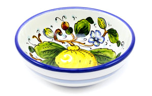 "Borgioli - Lemons on White - Cereal Bowl 17cm (6.7"")"